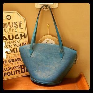 Louis Vuitton Saint Jacques blue epi bag